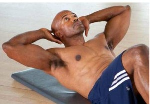 Classic crunches for six pack abs and flat abs