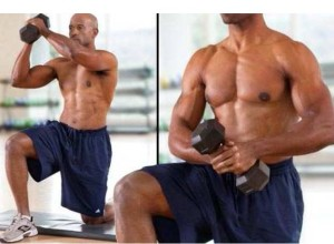 Wood chop workout for six pack abs