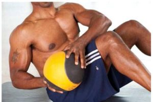 Trunk rotations for six pack or flat abs