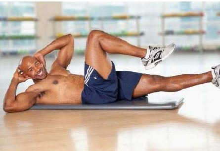 bicycle crunches workout