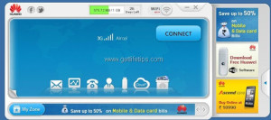 Huawei Data cards Mobile partner Software GUI