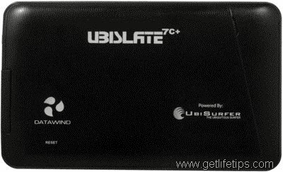 Datawind Ubislate 7c+ Edge Back View Review