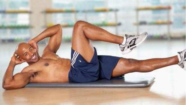 Bicycle crunches for six pack abs